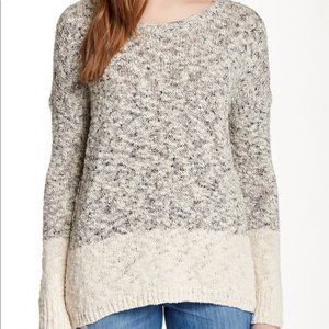 Vince Marble Colorblock Boxy Sweater Knit
